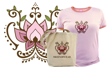 Mehndi Henna Tattoo Lotus Flower